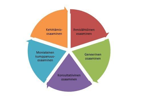 kaaviossa eri lohkoissa ajatuksia kotihoidon tulevaisuuden osaamisen luokittelusta