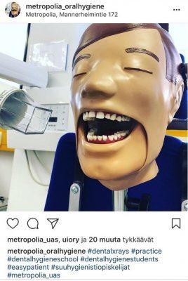Oppilaitos ja työelämä kohtaavat sosiaalisessa mediassa - suuhygienistitutkinto Instagramissa