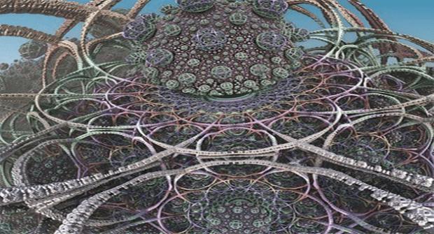 Karttakuva, jossa monimuktaiset yhteydet eri paikkojen välillä.