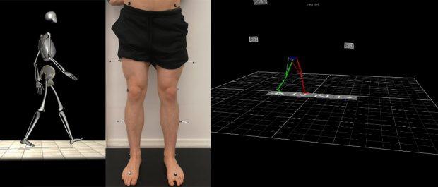 Henkilön alavartalo ja laitteiston vartalosta muodostama malli
