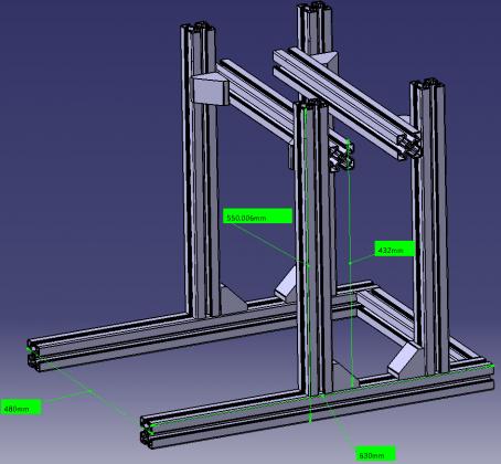 Kuvakaappaus projektin 3D-suunnitelmasta.