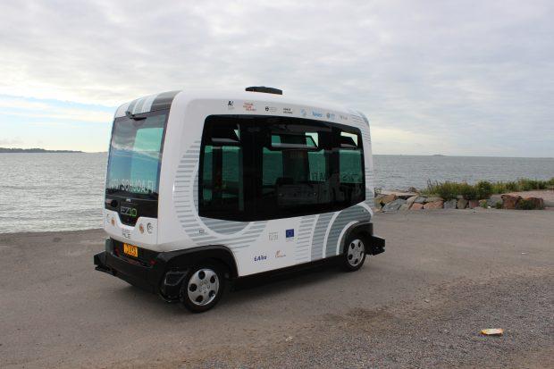 SOHJOA-hankkeen käyttämä robottibussi